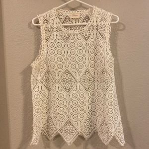 Anthropologie Tops - Anthropologie Deletta Lace Top White